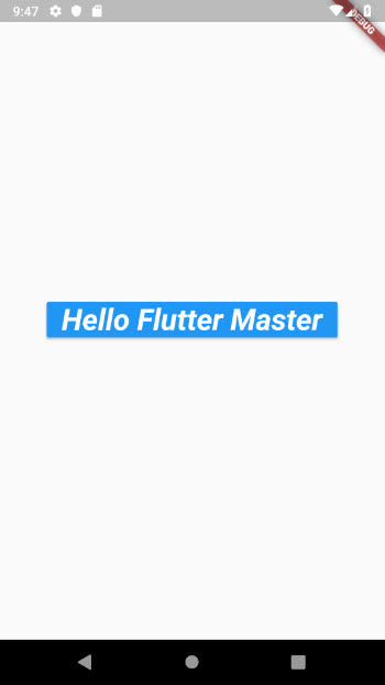 Working with Flutter RaisedButton • FlutterMaster