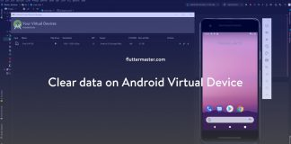 Clear data on Android Virtual Device