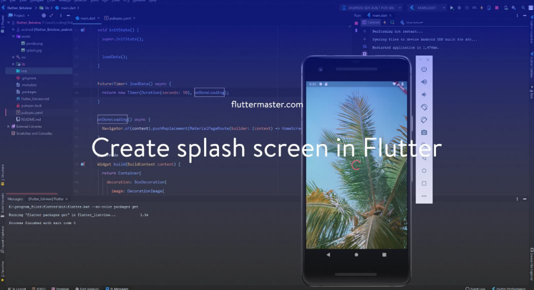 Create splash screen in Flutter