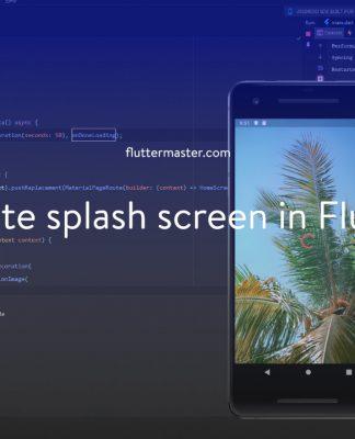 Create splash screen in Flutter