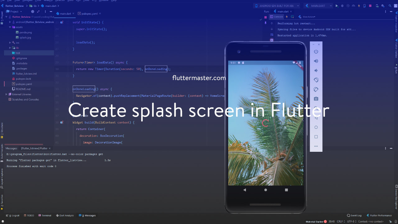 Create splash screen in Flutter • FlutterMaster