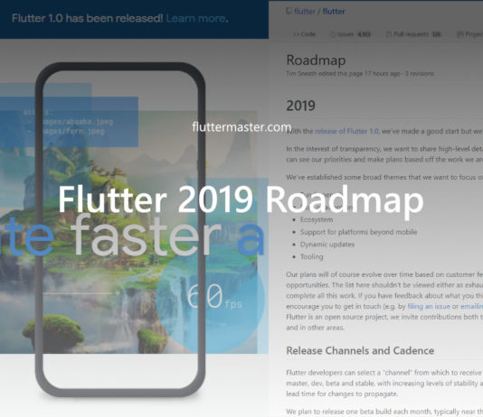 Flutter 2019 Roadmap