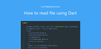 How to read file using Dart