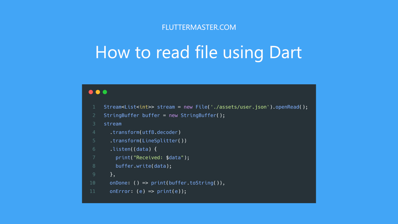 How to read file using Dart • FlutterMaster