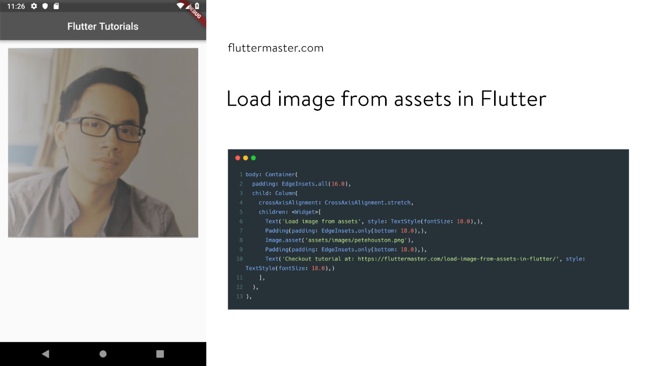 Load image from assets in Flutter • FlutterMaster