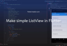 Make simple ListView in Flutter