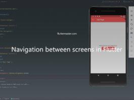Navigate between screens in Flutter