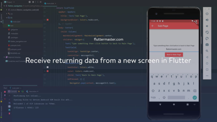 Receive returning data from a new screen in Flutter
