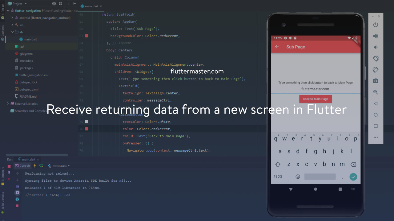 Receive returning data from a new screen in Flutter • FlutterMaster