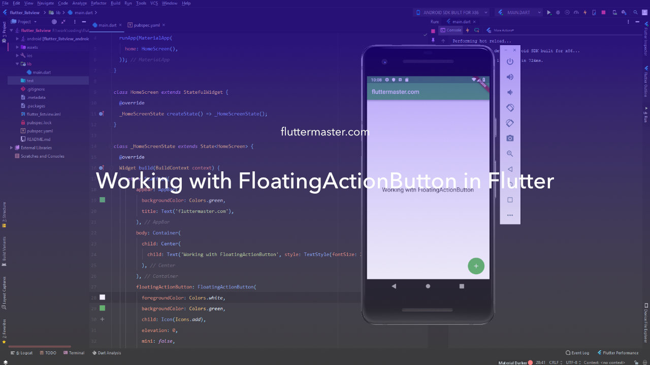 Working with FloatingActionButton in Flutter • FlutterMaster