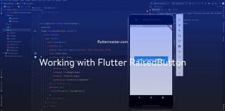 Working with Flutter RaisedButton