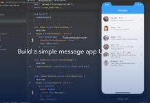 Build a simple message app UI in Flutter