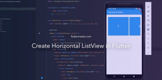 Create horizontal ListView in Flutter