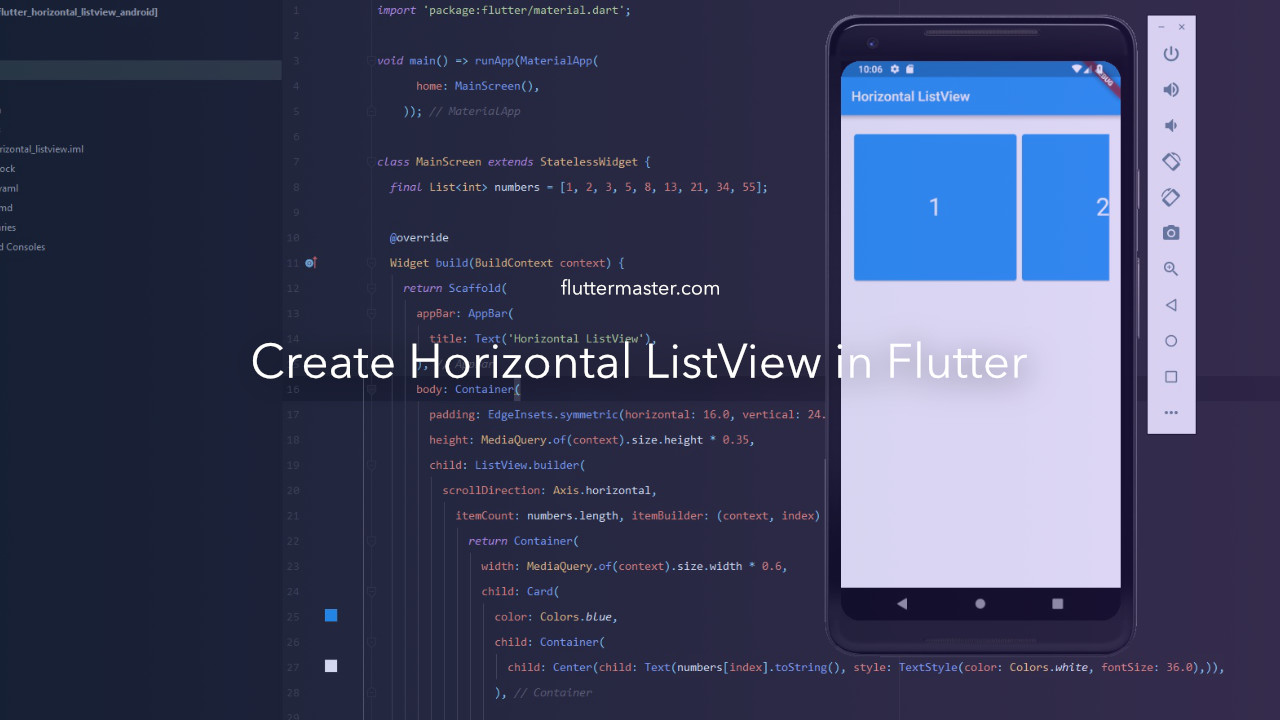 Create horizontal ListView in Flutter • FlutterMaster